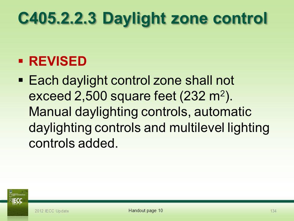 C405.2.2.3 Daylight zone control