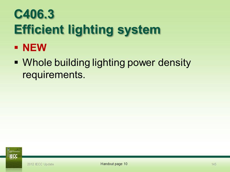 C406.3 Efficient lighting system