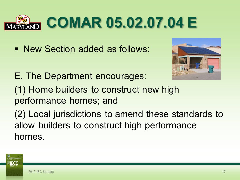 COMAR 05.02.07.04 E New Section added as follows: