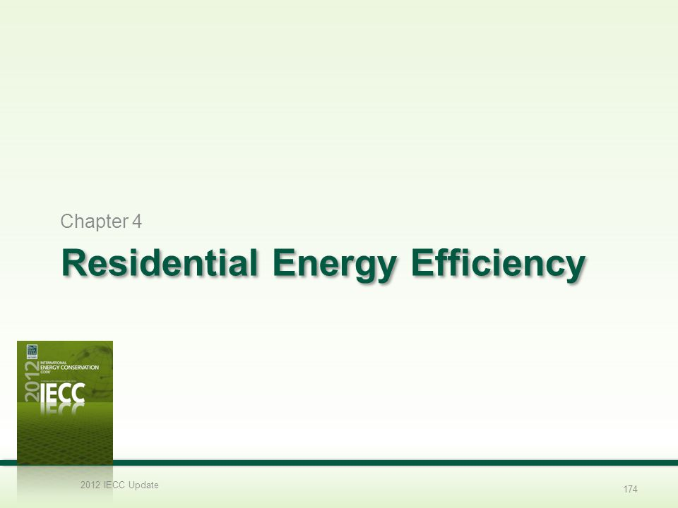 Residential Energy Efficiency