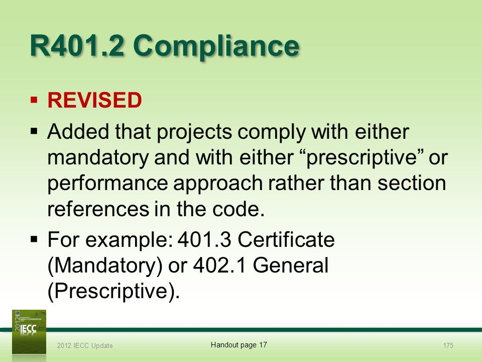 R401.2 Compliance REVISED.