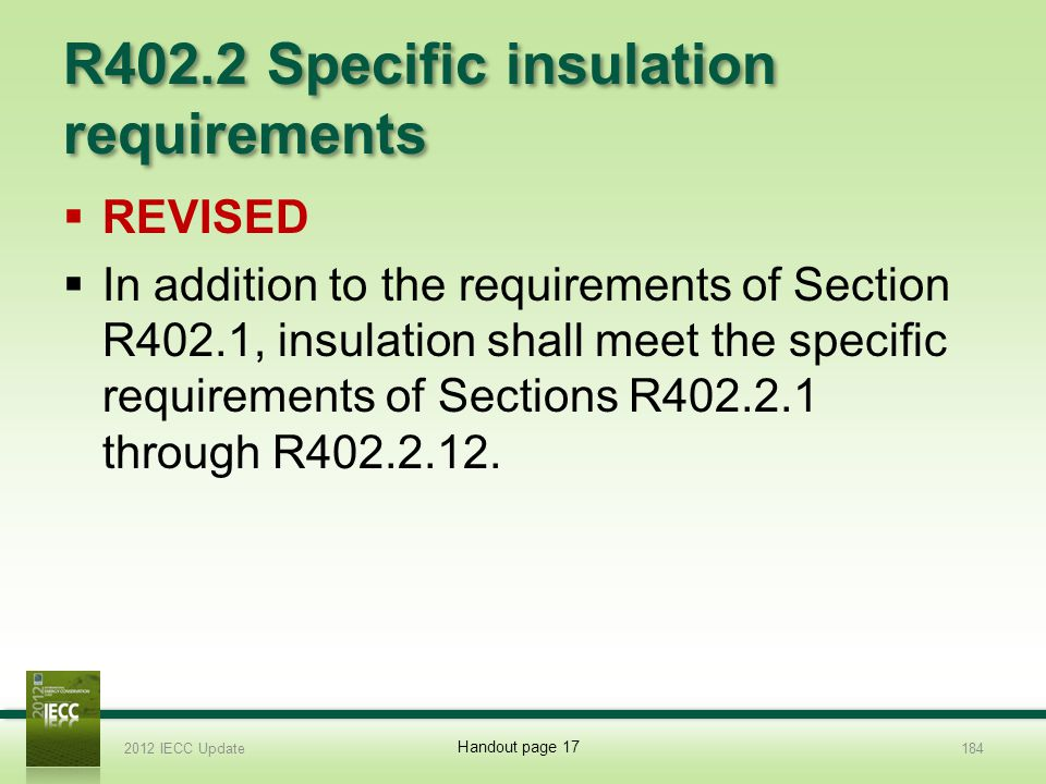 R402.2 Specific insulation requirements