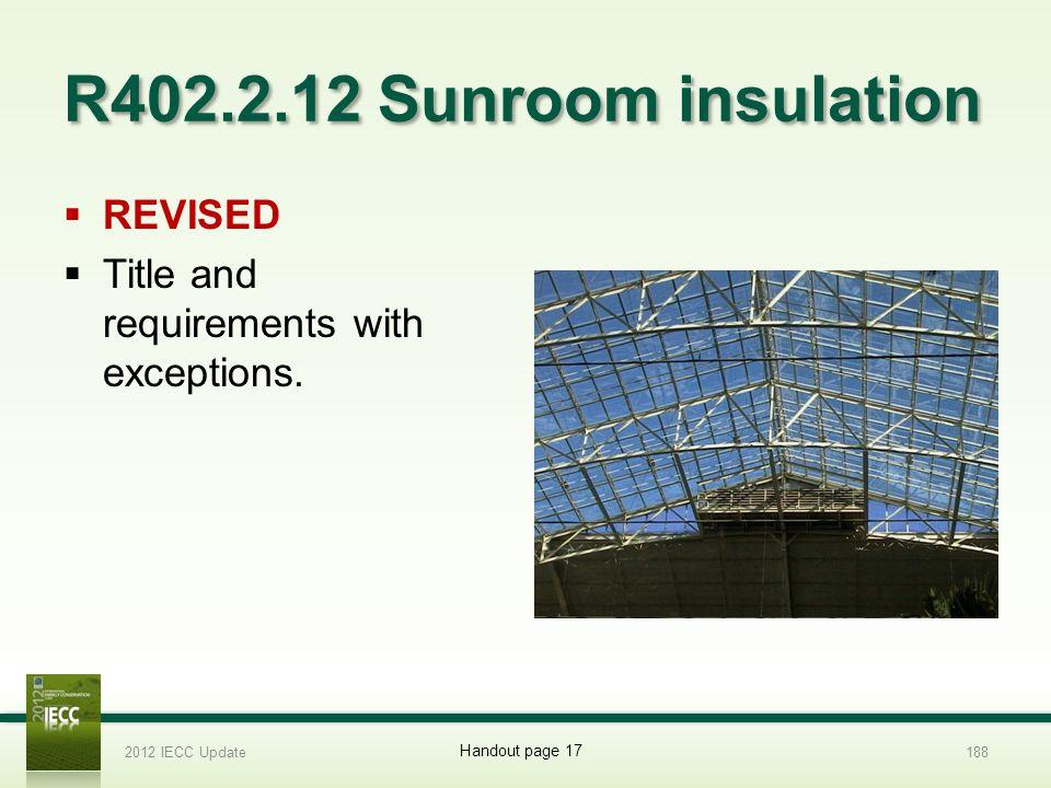 R402.2.12 Sunroom insulation REVISED