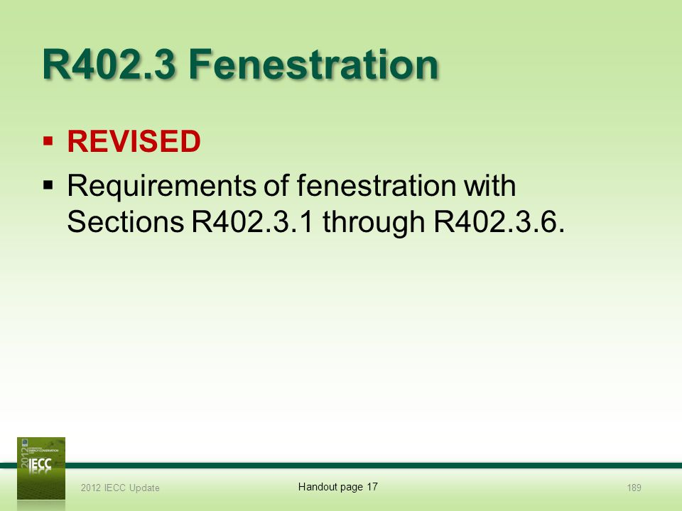 R402.3 Fenestration REVISED