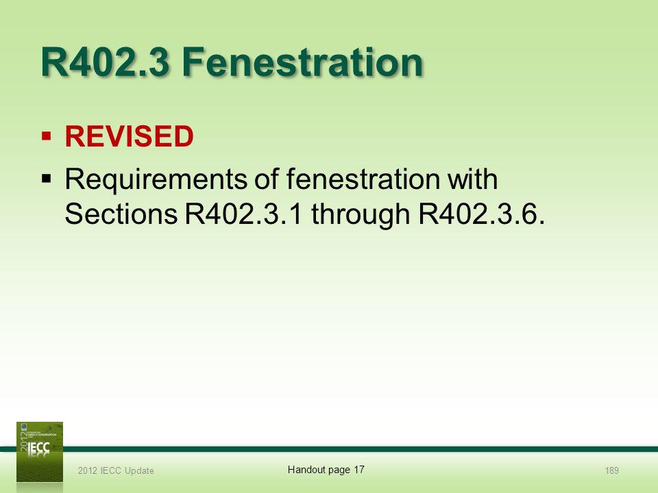 R402.3 Fenestration REVISED