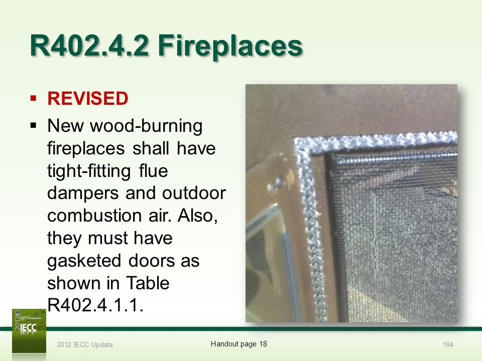 R402.4.2 Fireplaces REVISED.