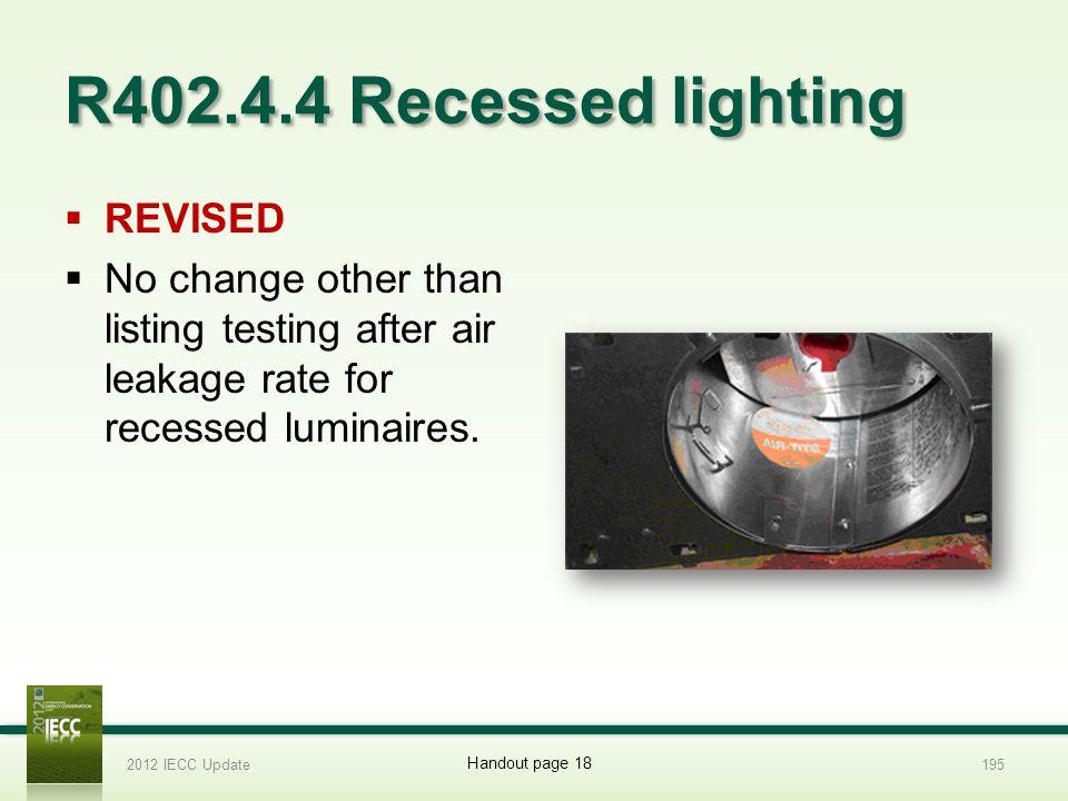 R402.4.4 Recessed lighting REVISED