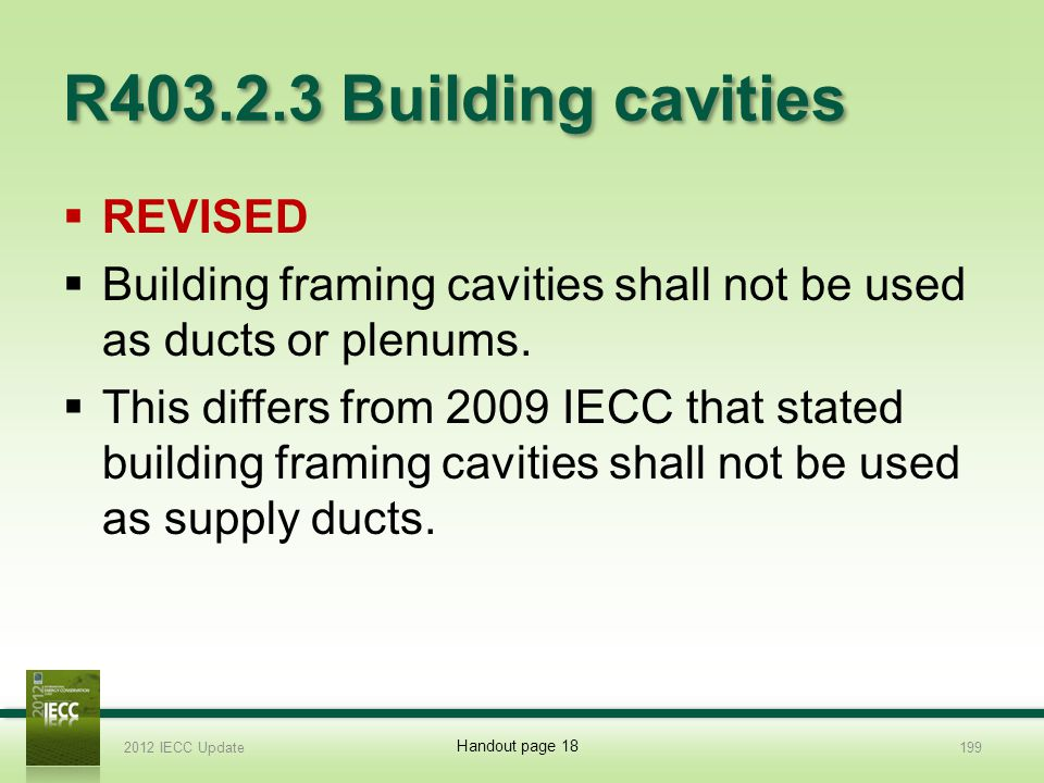 R403.2.3 Building cavities REVISED