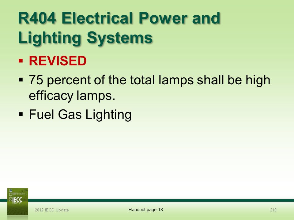 R404 Electrical Power and Lighting Systems