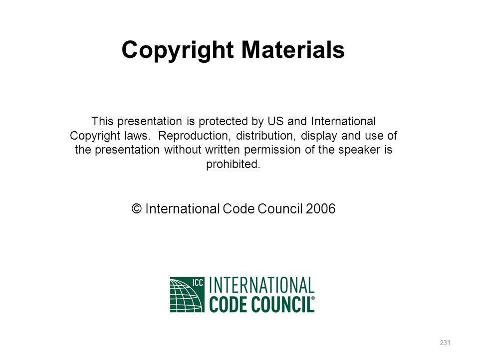 © International Code Council 2006