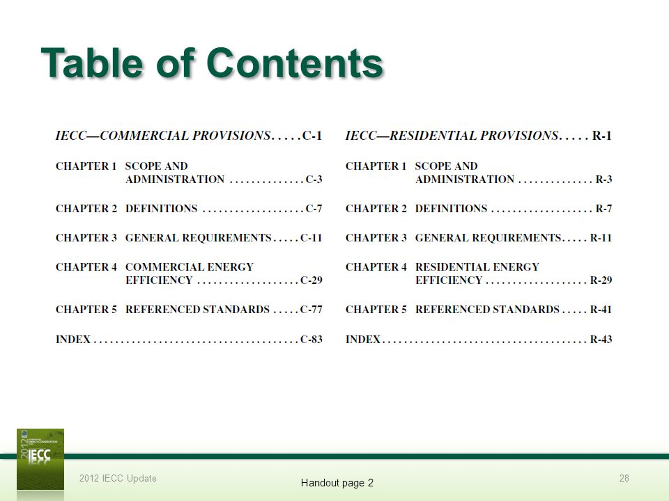 Table of Contents 2012 Slide Template 3/31/2017