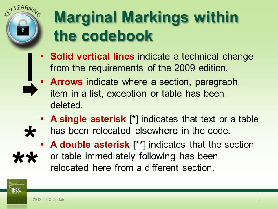 Marginal Markings within the codebook