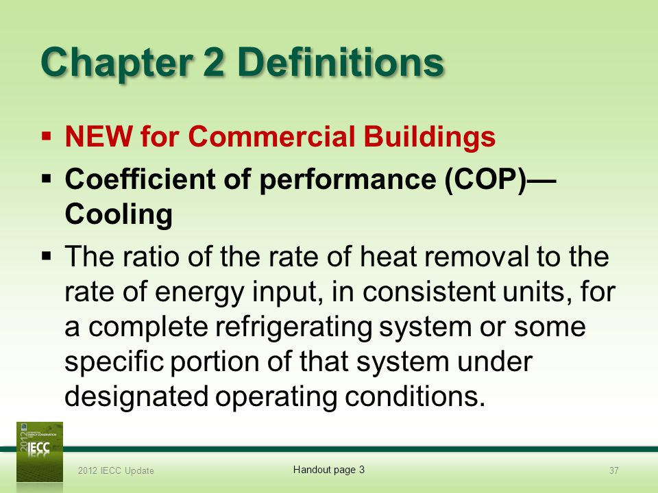 Chapter 2 Definitions NEW for Commercial Buildings