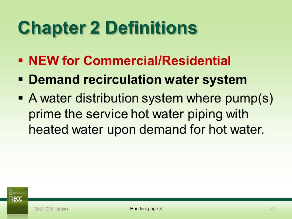 Chapter 2 Definitions NEW for Commercial/Residential
