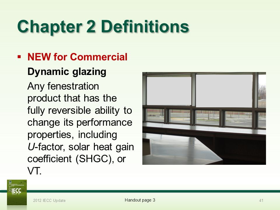 Chapter 2 Definitions NEW for Commercial Dynamic glazing
