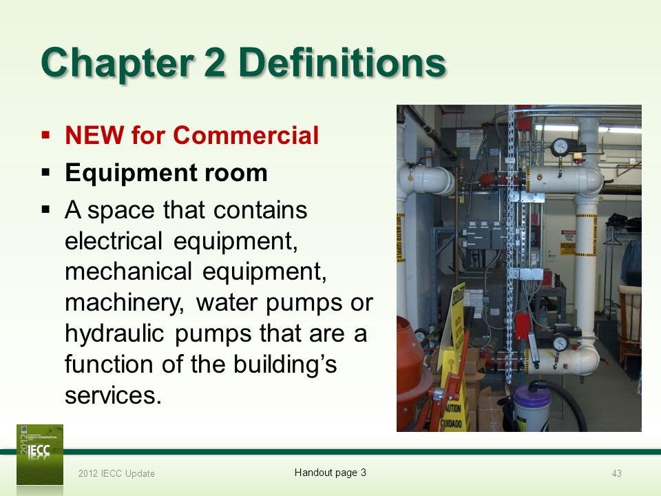Chapter 2 Definitions NEW for Commercial Equipment room