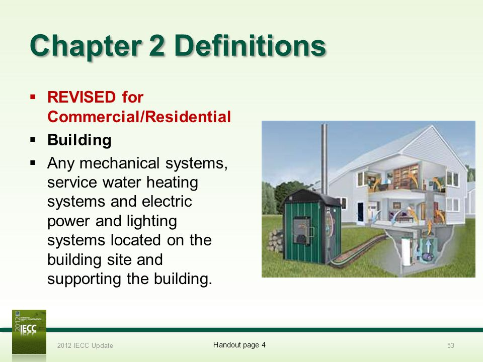 Chapter 2 Definitions REVISED for Commercial/Residential Building