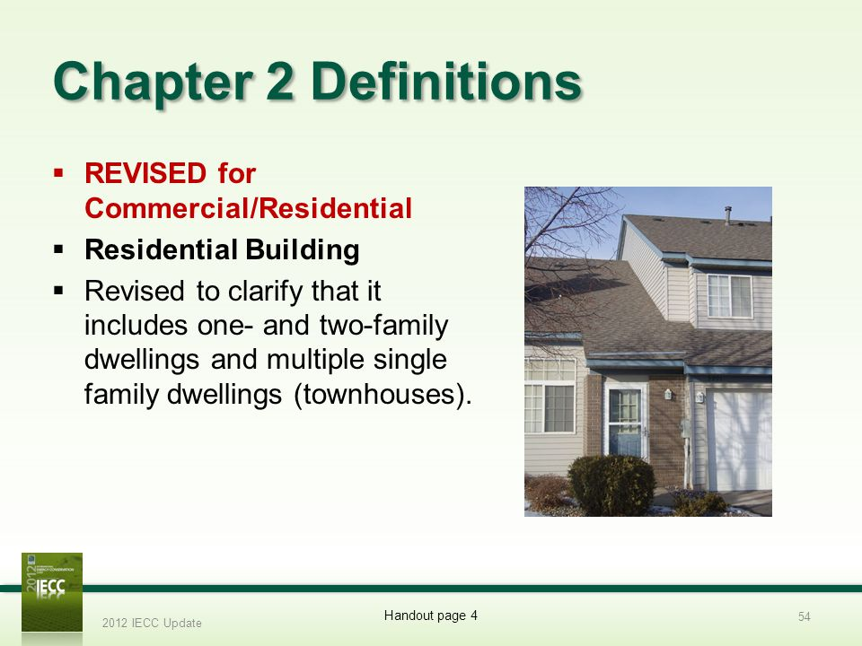 Chapter 2 Definitions REVISED for Commercial/Residential