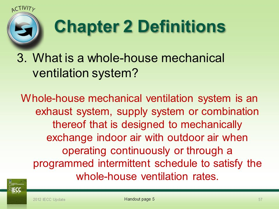 Whole House Mechanical Ventilation System : Slide template international energy