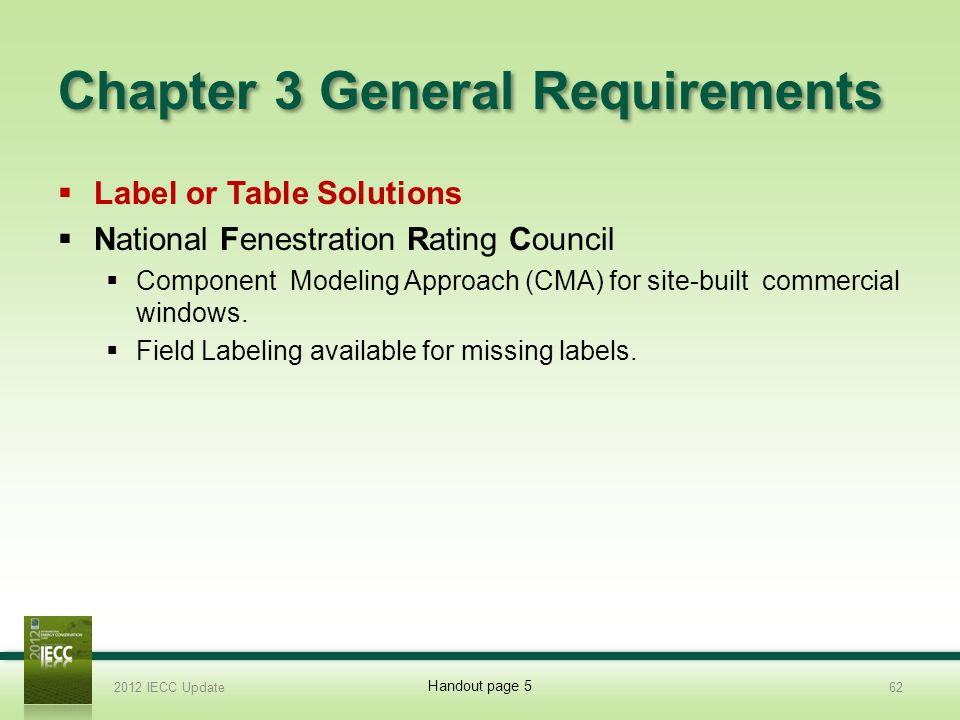 Chapter 3 General Requirements