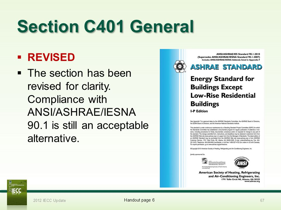 Section C401 General REVISED