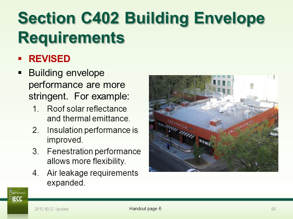 Section C402 Building Envelope Requirements