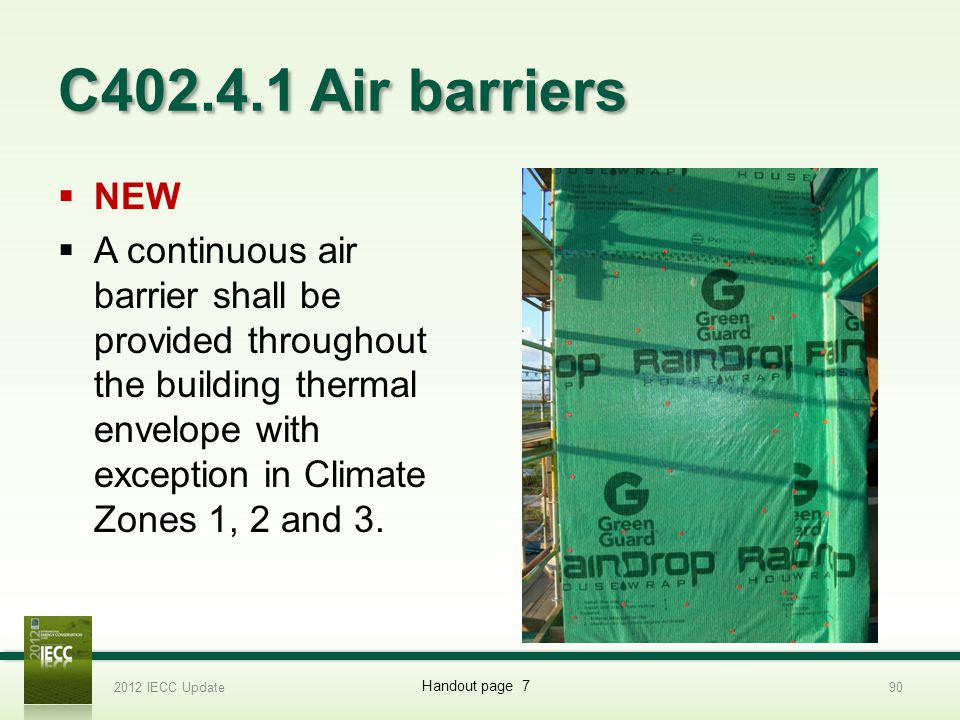 C402.4.1 Air barriers NEW.