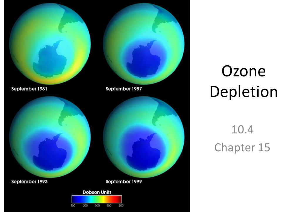 Ozone Depletion 10.4 Chapter 15