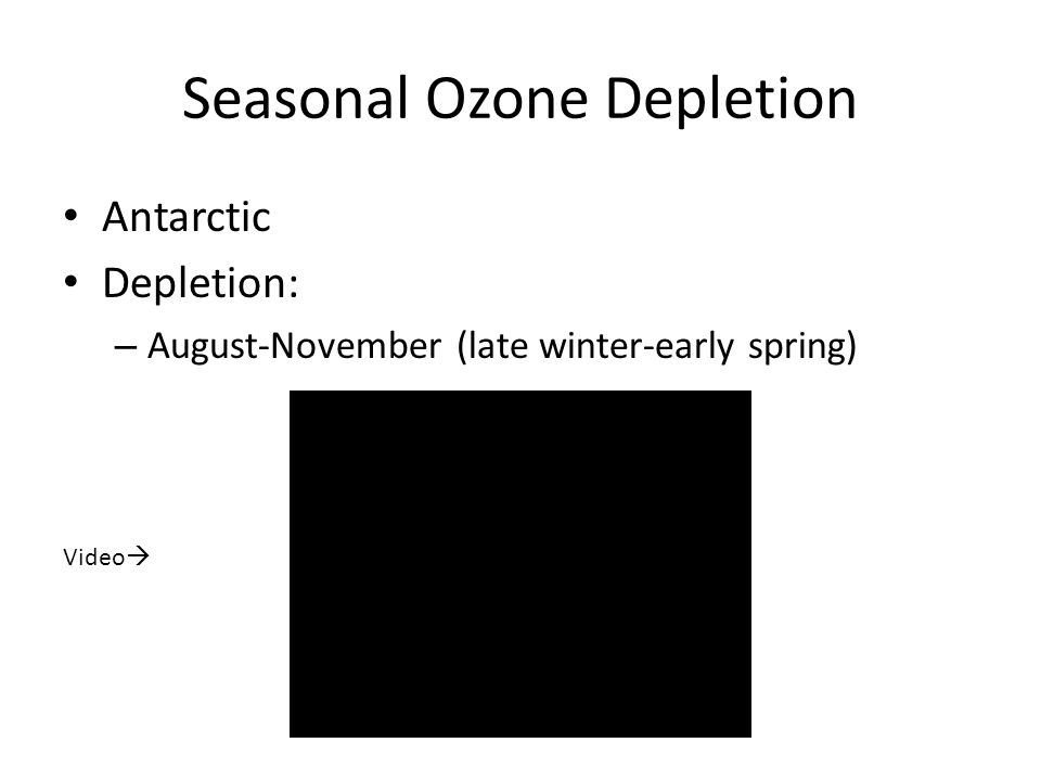 Seasonal Ozone Depletion