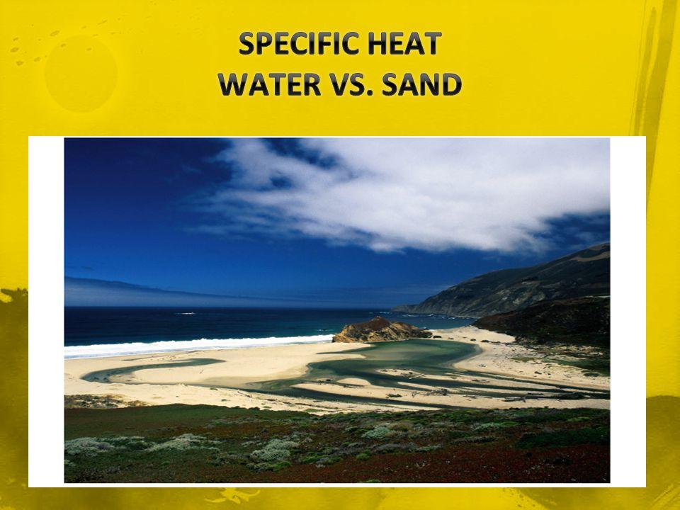 SPECIFIC HEAT WATER VS. SAND