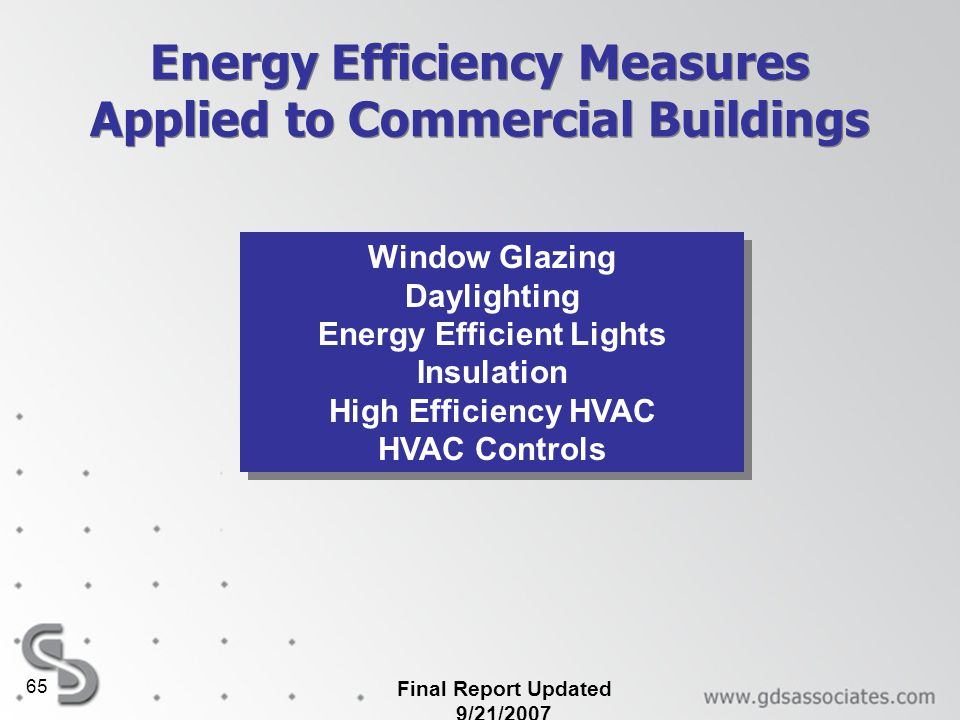 Energy Efficiency Measures Applied to Commercial Buildings