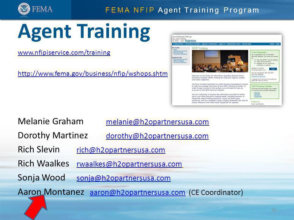Agent Training Melanie Graham melanie@h2opartnersusa.com