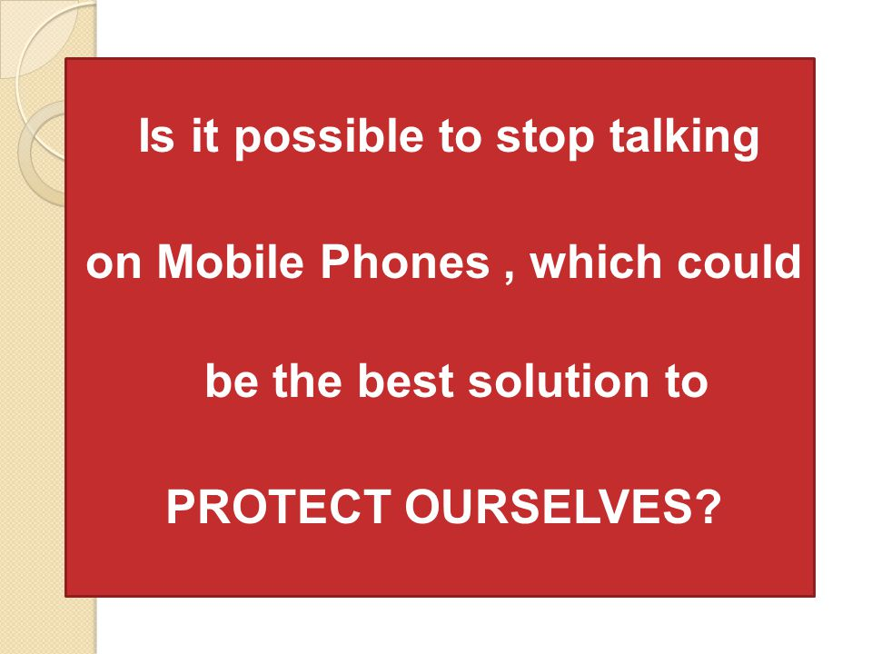 on Mobile Phones , which could be the best solution to