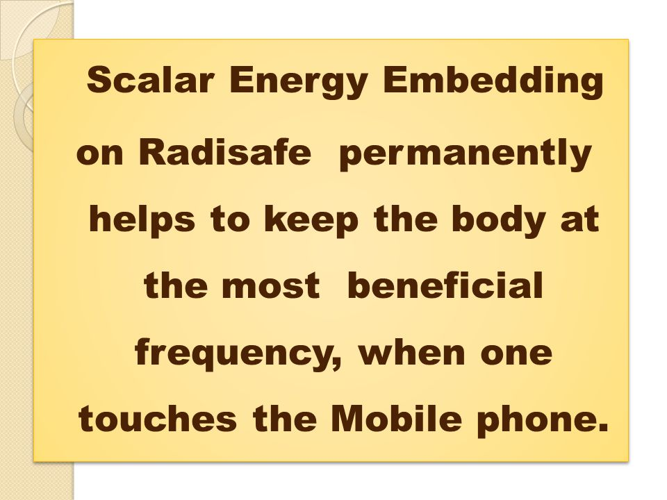 Scalar Energy Embedding