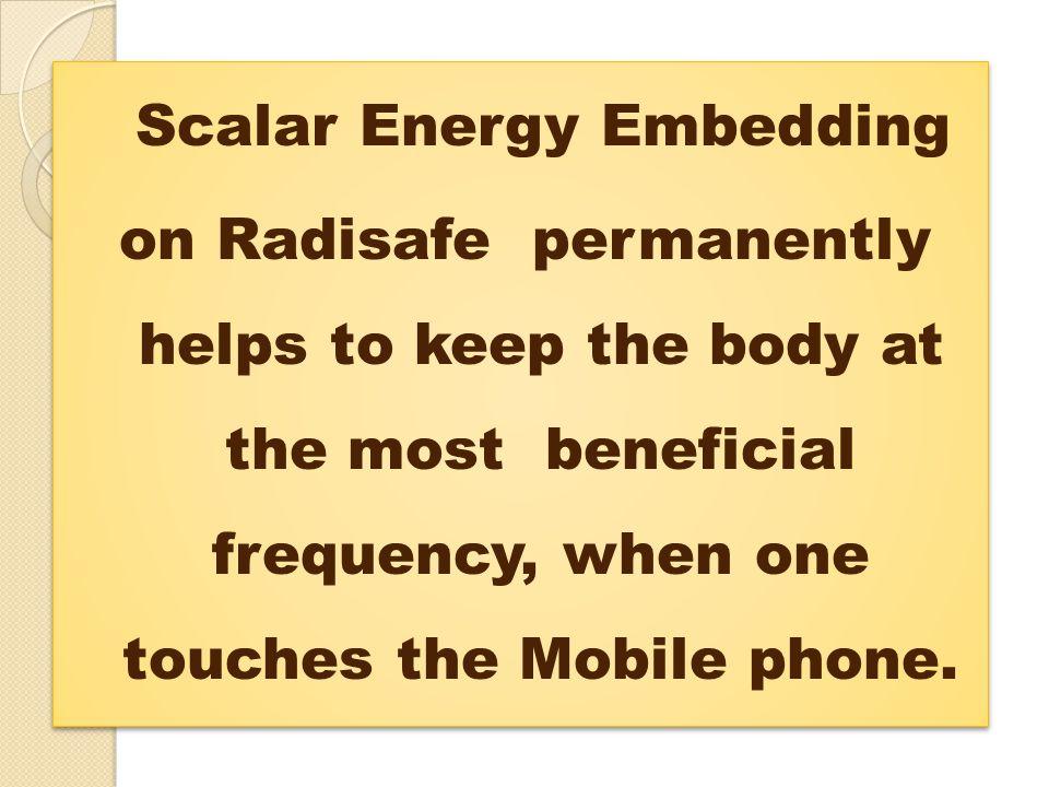 Scalar Energy Embedding