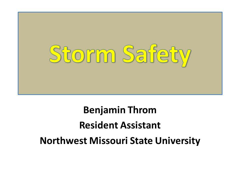 Benjamin Throm Resident Assistant Northwest Missouri State University