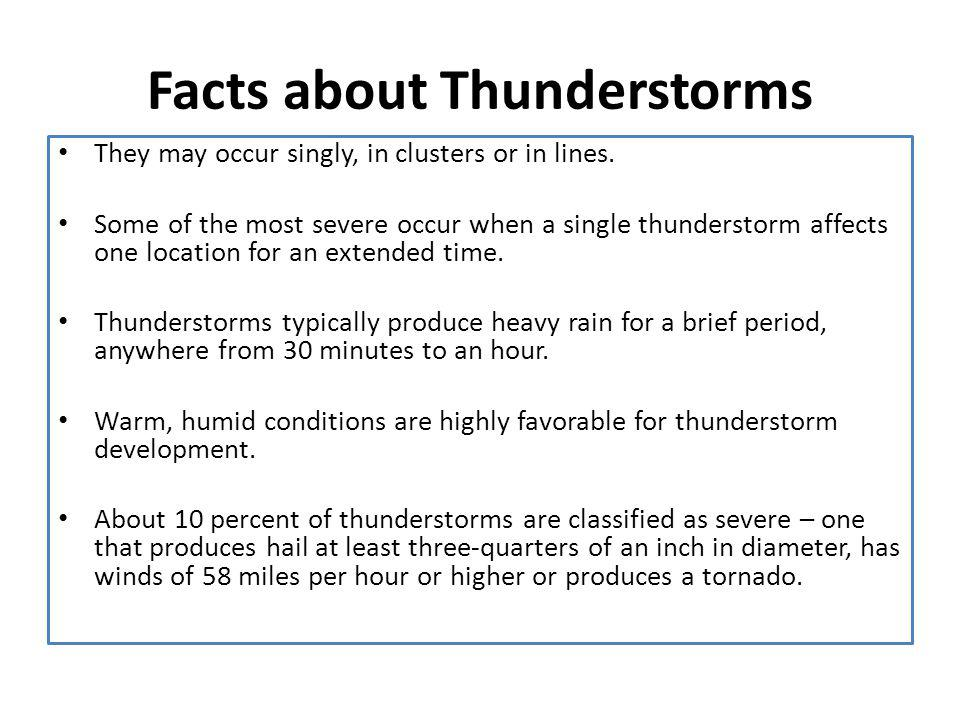 Facts about Thunderstorms