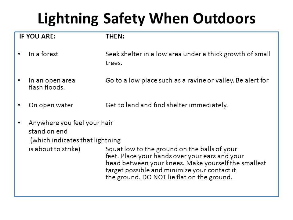 Lightning Safety When Outdoors