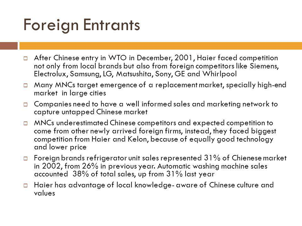 Foreign Entrants