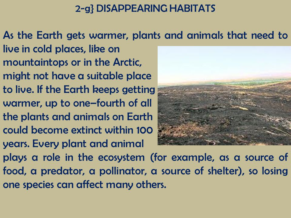 2-g} DISAPPEARING HABITATS
