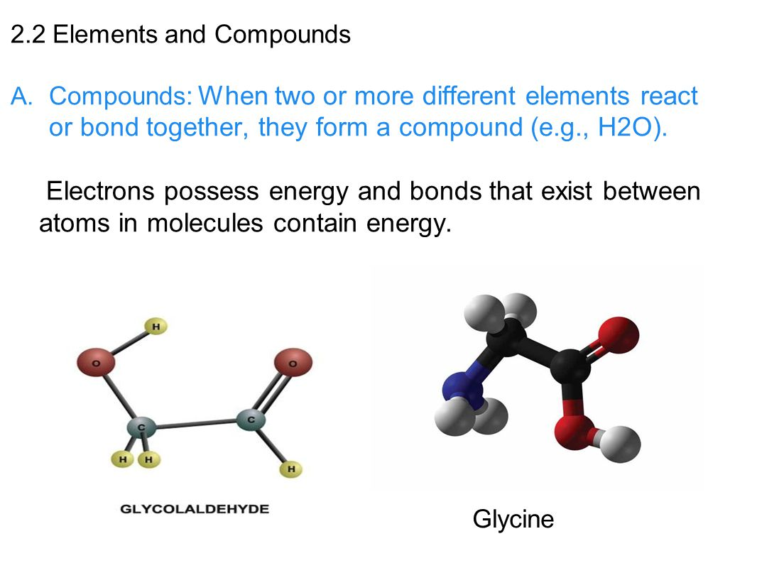 2.2 Elements and Compounds