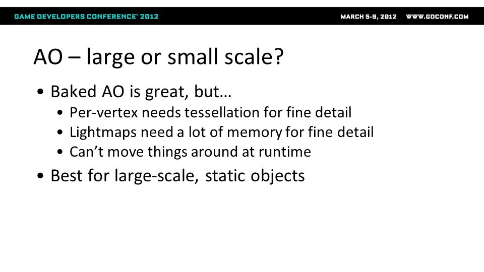 AO – large or small scale