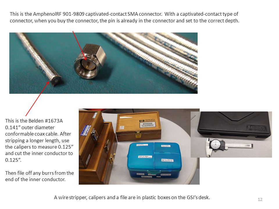 This is the AmphenolRF 901-9809 captivated-contact SMA connector