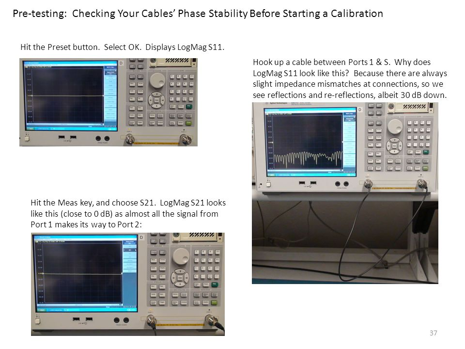 Pre-testing: Checking Your Cables' Phase Stability Before Starting a Calibration