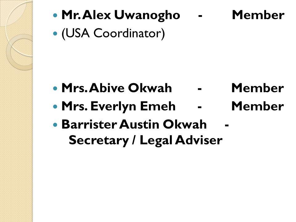 Mr. Alex Uwanogho - Member