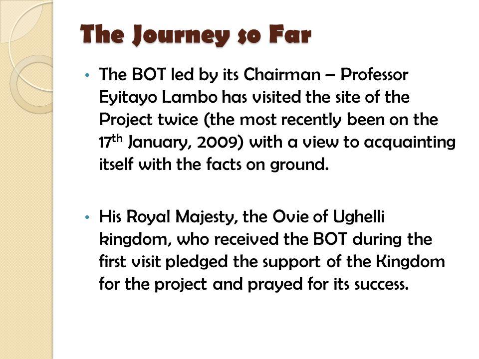 The Journey so Far