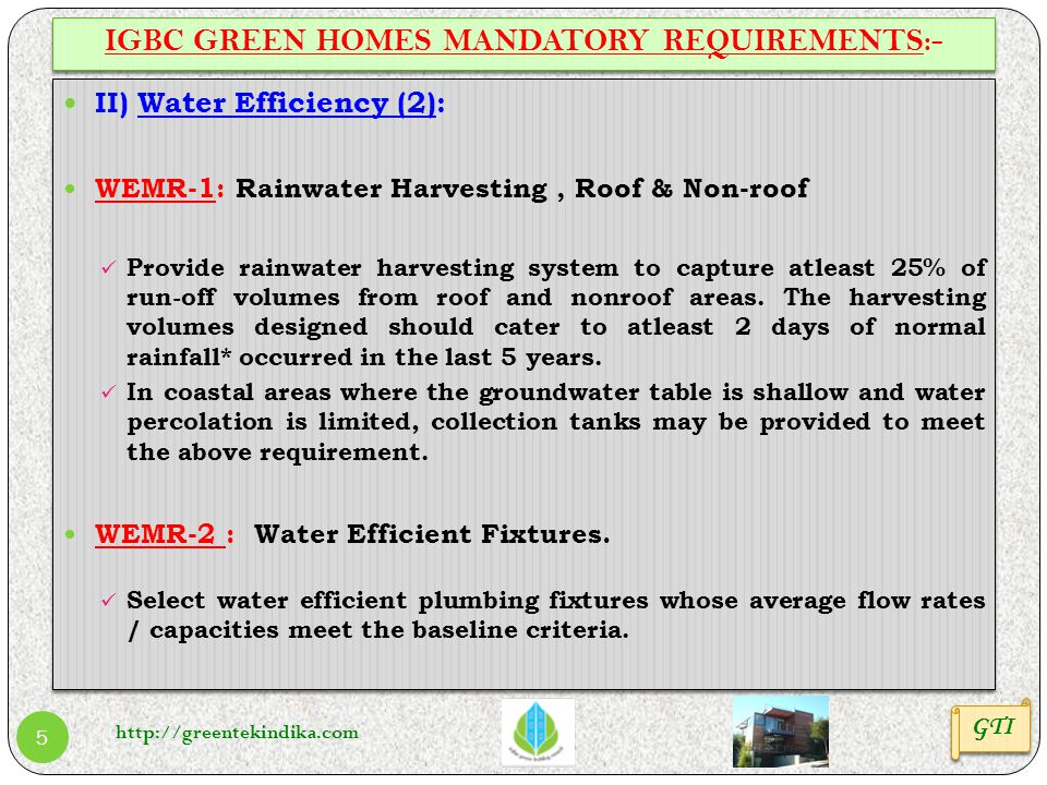 IGBC GREEN HOMES MANDATORY REQUIREMENTS:-