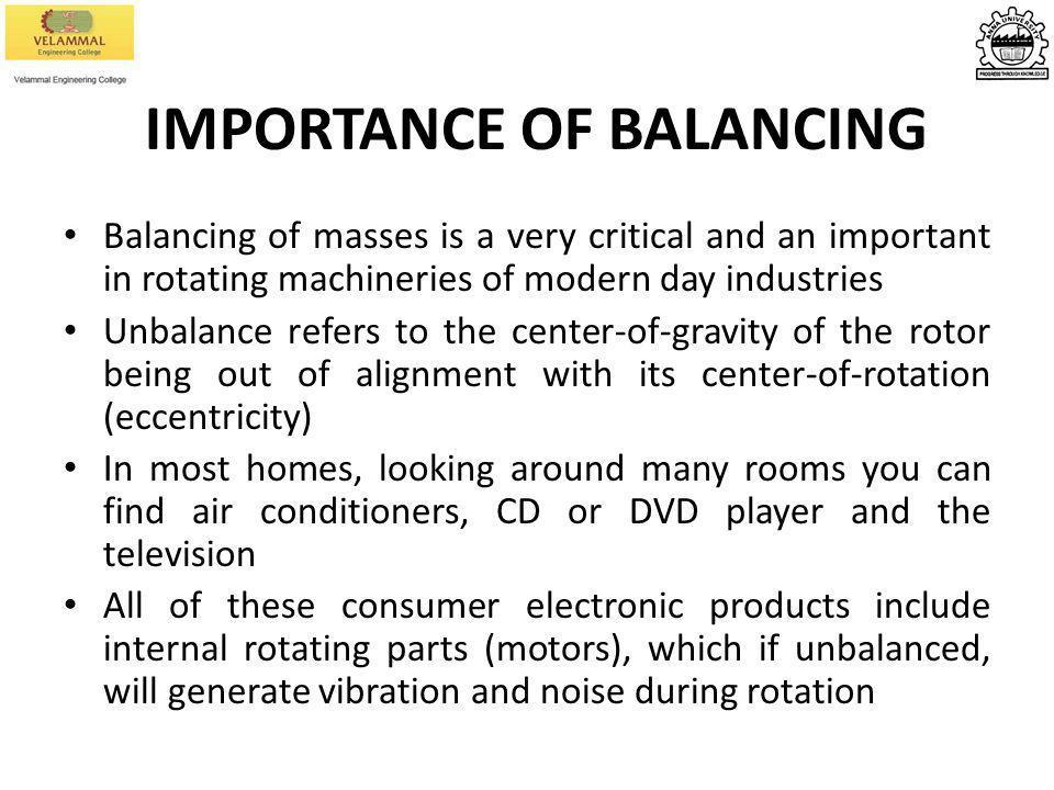 IMPORTANCE OF BALANCING
