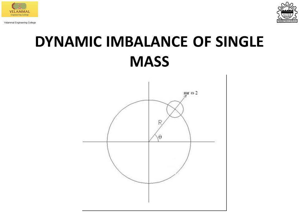 DYNAMIC IMBALANCE OF SINGLE MASS