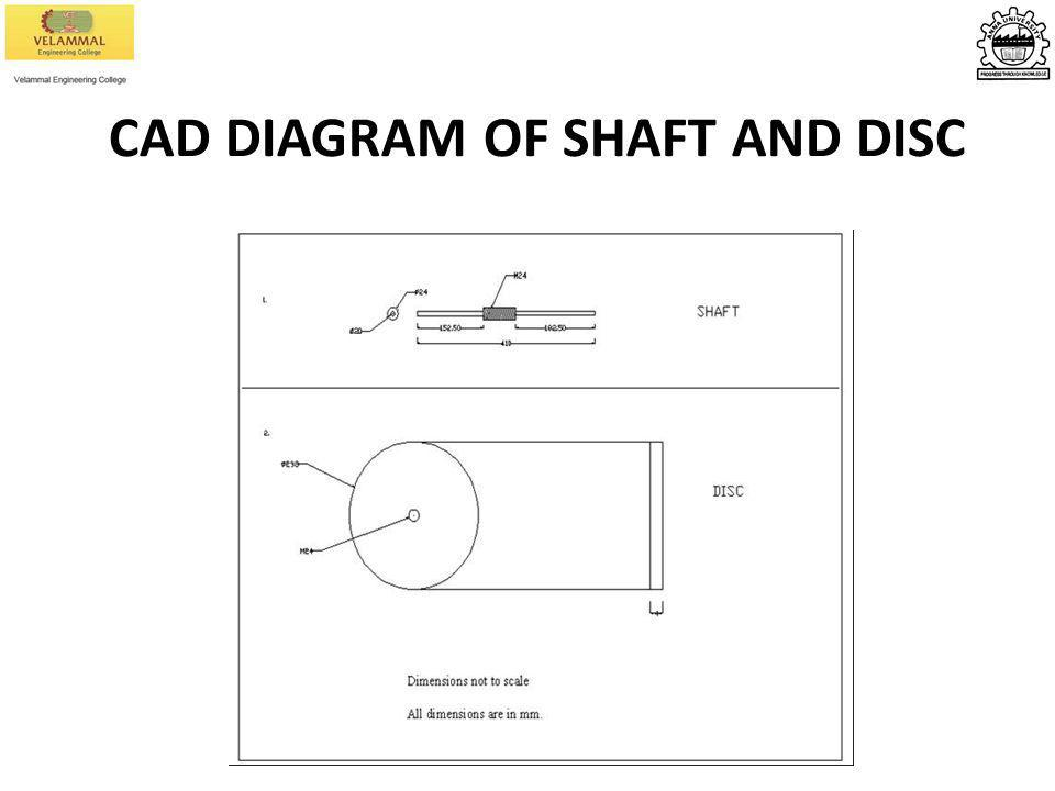 CAD DIAGRAM OF SHAFT AND DISC